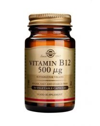 Solgar Vitamin B12 500 G - 50 Vegetable Capsules