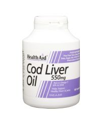 Health Aid Cod Liver Oil 550Mg 50% Extra Value - 180 Capsules