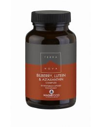 Terranova Bilberry, Lutein & Astaxanthin Complex - 50 Vegetable Capsules