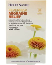 Higher Nature Feverfew Migraine Relief - 30 Capsules