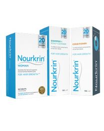 Nourkrin Woman 3 Months + FREE Shampoo and Conditioner - 1 Pack