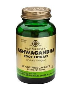 Solgar AshwaganDHA Root Extract - 60 Vegetable Capsules
