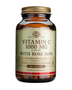 Solgar Vitamin C 1000 Mg With Rose Hips - 100 Tablets