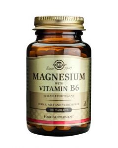 Solgar Magnesium With Vitamin B6 - 100 Tablets