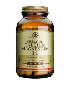 Solgar Chelated Calcium Magnesium 1:1 - 120 Tablets