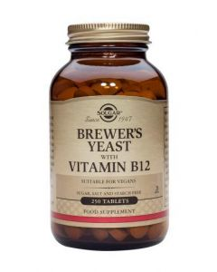 Solgar Brewer'S Yeast With Vitamin B12 - 250 Tablets