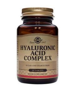 Solgar Hyaluronic Acid Complex - 30 Tablets - Speciality Supplements