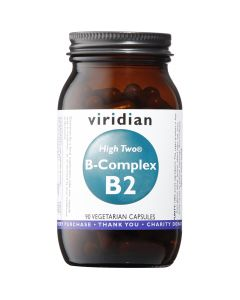 Viridian High Two Vitamin B2 With B-Complex - 90 Vegetable Capsules