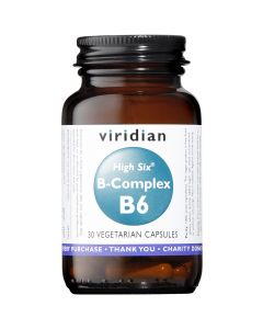 Viridian High Six Vitamin B6 With B-Complex - 30 Vegetable Capsules