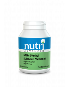 Nutri Advanced MSM (Methyl Sulphonyl Methane) - 90 Vegan Capsules - Joints and Bones