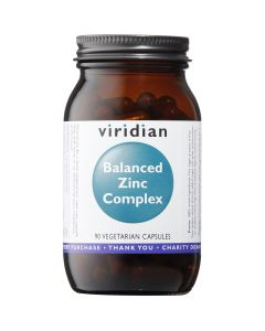 Viridian Balanced Zinc Complex - 90 Vegetable Capsules - Zinc