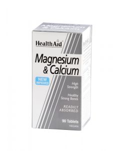 Health Aid Magnesium & Calcium - 90 Tablets