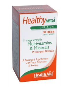 Health Aid Healthy Mega - Prolonged Release - 30 Tablets