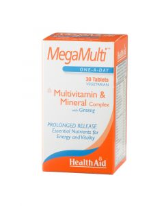 Health Aid Mega-Multi'S (With Ginseng) - 30 Tablets