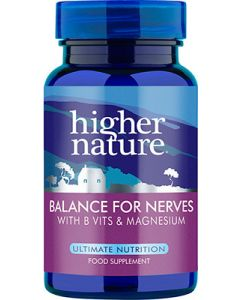 Higher Nature Balance For Nerves - 30 Capsules - Speciality and Practitioner Range