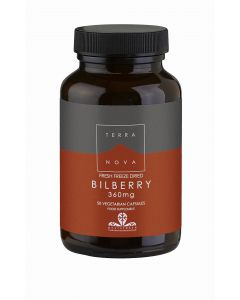 Terranova Bilberry 360Mg - 50 Vegetable Capsules - Bilberry