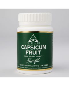 Bio Health Capsicum Fruit 250Mg - 60 Capsules
