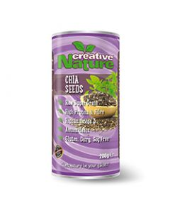 Creative Nature Chia Seeds (South American) - 200g Pack - Superfoods
