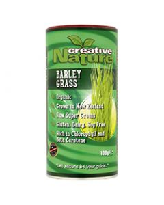 Creative Nature Organic Barley Grass Powder (New Zealand) - 100g Powder - Superfoods