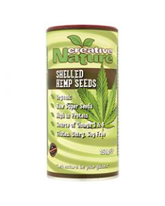 Creative Nature Organic Shelled Hemp Seeds (Canadian) - 150g Pack - Superfoods