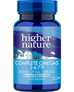 Higher Nature Complete Omegas 3:6:7:9 - 30 Capsules