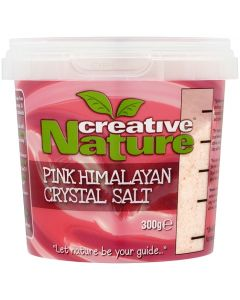 Creative Nature Pink Crystal Salt Fine Grade (Himalayan) - 300g Pack - Superfoods