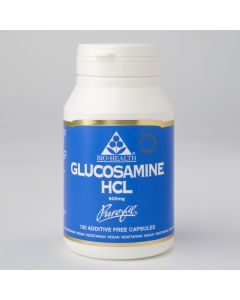 Bio Health Glucosamine Hcl 600Mg - 120 Vegetable Capsules - Joints and Bones