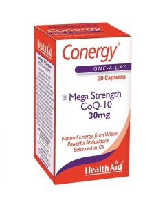 Health Aid Conergy Coq-10 30Mg - 30 Capsules