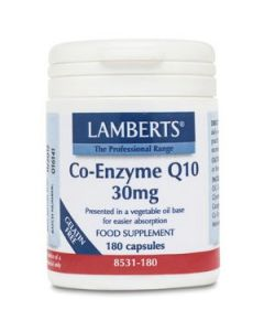 Lamberts Co-Enzyme Q10 30Mg - 180 Capsules