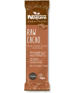 Creative Nature Cold Pressed Cacao And Goji Superfood Flapjack - 38g Pack