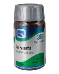 Quest Essentials Saw Palmetto Equivalent To 500Mg Of Herb Powder - 30 Tablets